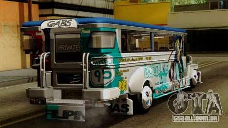 Auto Pormado - Gabshop Custom Jeepney para GTA San Andreas esquerda vista