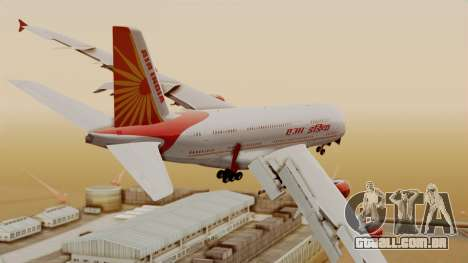 Airbus A380-861 Air India para GTA San Andreas esquerda vista