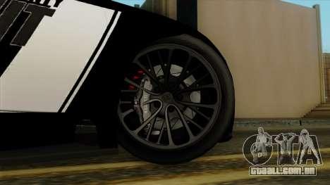 Bugatti Veyron 16.4 2013 Dubai Police para GTA San Andreas traseira esquerda vista