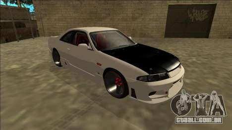 Nissan Skyline R33 Drift para GTA San Andreas esquerda vista