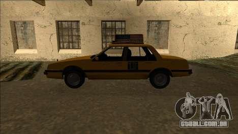 Willard Taxi para GTA San Andreas esquerda vista