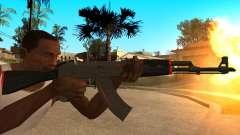 AK-47 Linha Vermelha do CS:GO para GTA San Andreas