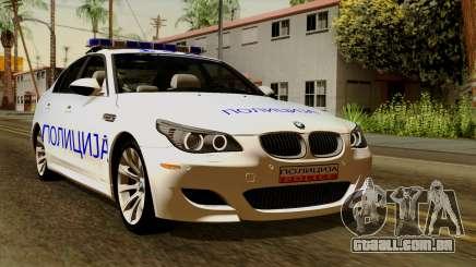 BMW M5 E60 Macedonian Police para GTA San Andreas