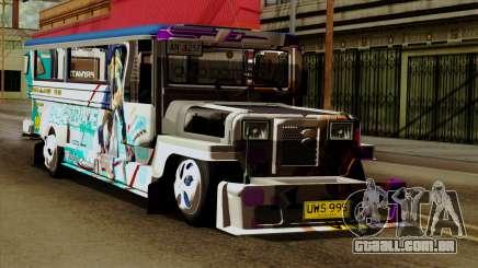 Auto Pormado - Gabshop Custom Jeepney para GTA San Andreas