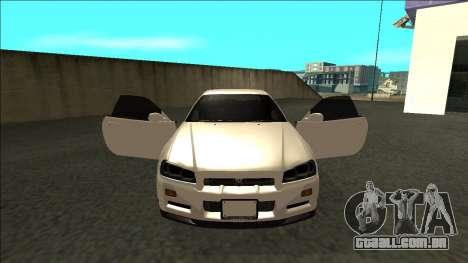 Nissan Skyline R34 Drift JDM para GTA San Andreas vista interior