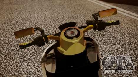 Honda Scoopy New Pink para GTA San Andreas traseira esquerda vista