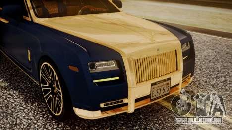 Rolls-Royce Ghost Mansory v2 para GTA San Andreas vista interior