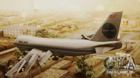Boeing 747-100 Pan Am Clipper Maid of the Seas para GTA San Andreas esquerda vista