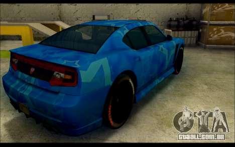 Bravado Buffalo Blue Star para GTA San Andreas traseira esquerda vista