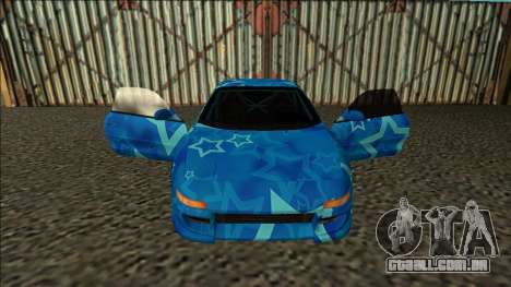 Toyota MR2 Drift Blue Star para GTA San Andreas vista interior