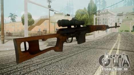SVD Battlefield 3 para GTA San Andreas segunda tela