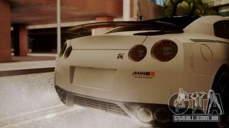 Nissan GT-R R35 2012 v2 para GTA San Andreas vista traseira