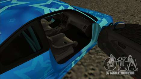 Toyota MR2 Drift Blue Star para GTA San Andreas traseira esquerda vista