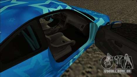Toyota MR2 Drift Blue Star para GTA San Andreas traseira esquerda vista