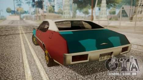 Paul Clover (FnF 7) para GTA San Andreas traseira esquerda vista