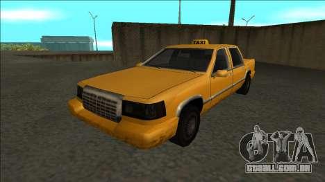 Stretch Sedan Taxi para GTA San Andreas traseira esquerda vista