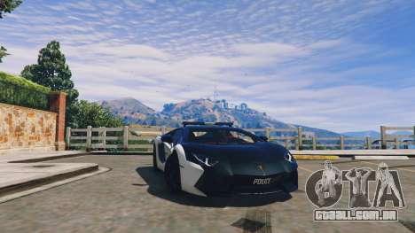 Lamborghini Aventador Police para GTA 5