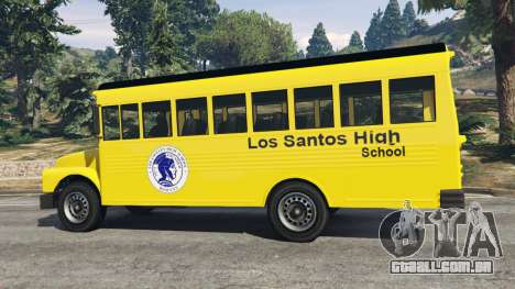 GTA 5 Clássico ônibus escolar traseira direita vista lateral