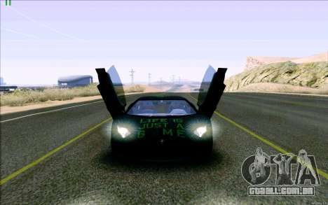 Lamborghini Aventador LP-700 Razer Gaming para GTA San Andreas vista interior