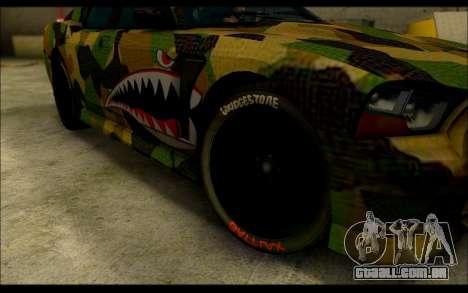 Bravado Buffalo Camo Shark Mouth para GTA San Andreas vista direita