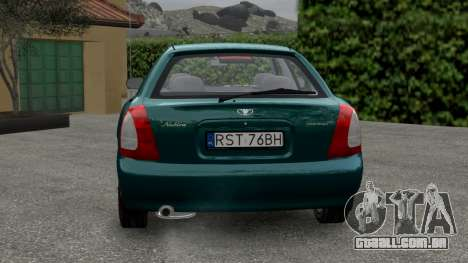 Daewoo Nubira I Hatchback CDX 1997 para GTA 4 vista direita