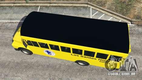 GTA 5 Clássico ônibus escolar voltar vista