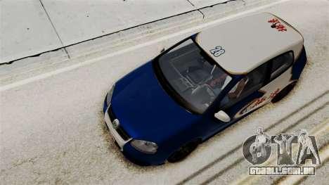 Volkswagen Golf R32 NFSMW05 Sonny PJ para vista lateral GTA San Andreas