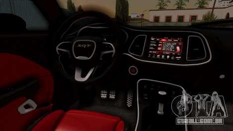 Dodge Challenger SRT Hellcat 2015 IVF para GTA San Andreas vista direita
