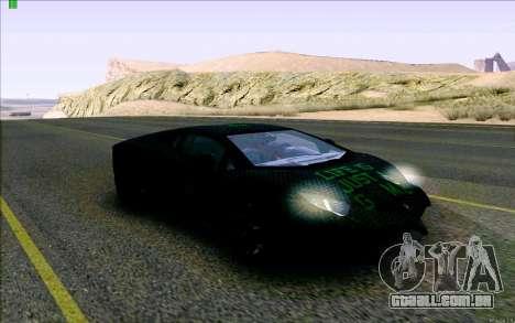 Lamborghini Aventador LP-700 Razer Gaming para GTA San Andreas vista traseira