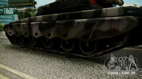 Type 99 from Mercenaries 2 para GTA San Andreas traseira esquerda vista