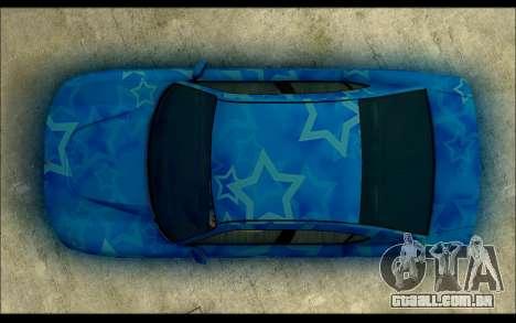 Bravado Buffalo Blue Star para GTA San Andreas vista direita