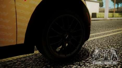 Mini Cooper Clubman 2011 K-ON Ritsu Itasha para GTA San Andreas traseira esquerda vista