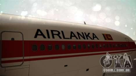 Lockheed L-1011 Air Lanka para GTA San Andreas vista traseira