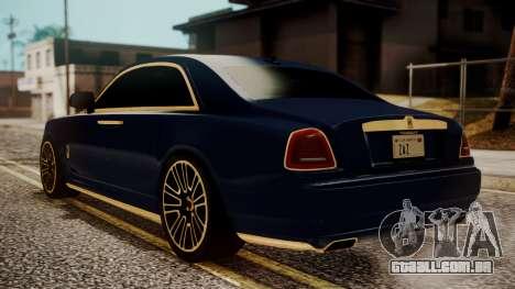 Rolls-Royce Ghost Mansory v2 para GTA San Andreas esquerda vista