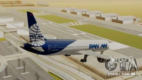 Boeing 787-9 Pan AM para GTA San Andreas esquerda vista