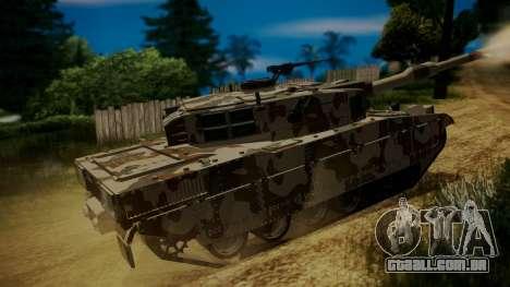 GTA 5 Rhino Tank para GTA San Andreas traseira esquerda vista