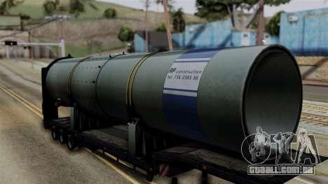 Overweight Trailer Black para GTA San Andreas traseira esquerda vista