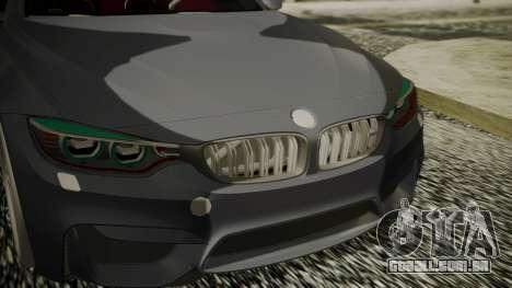 BMW M4 Coupe 2015 Carbon para GTA San Andreas vista direita