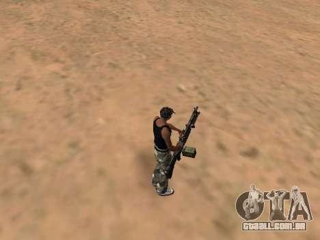 M249 para GTA San Andreas segunda tela