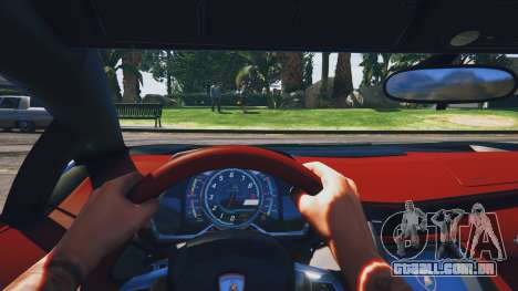 GTA 5 Lamborghini Aventador Police voltar vista