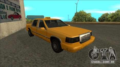 Stretch Sedan Taxi para GTA San Andreas esquerda vista