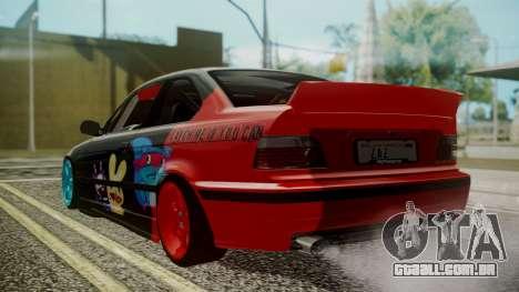 BMW M3 E36 Happy Drift Friends para GTA San Andreas esquerda vista