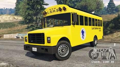 GTA 5 Clássico ônibus escolar vista lateral direita