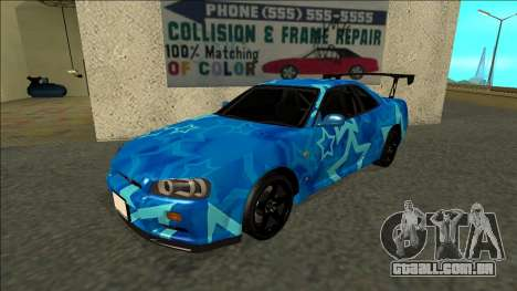 Nissan Skyline R34 Drift Blue Star para GTA San Andreas