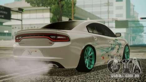 Dodge Charger RT 2015 Hatsune Miku para GTA San Andreas esquerda vista