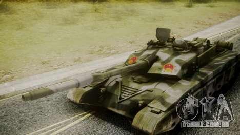 Type 99 from Mercenaries 2 para GTA San Andreas vista direita