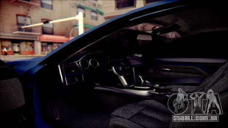 BMW 4 Series Coupe M Sport para GTA San Andreas vista superior