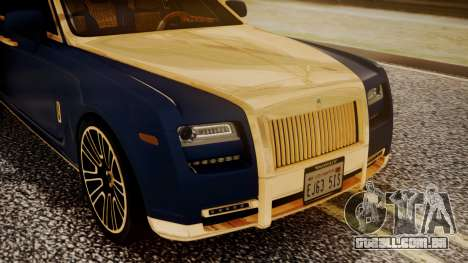 Rolls-Royce Ghost Mansory v2 para GTA San Andreas vista traseira