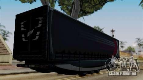 Aero Dynamic Trailer Stock para GTA San Andreas esquerda vista