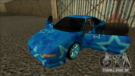 Toyota MR2 Drift Blue Star para GTA San Andreas vista traseira